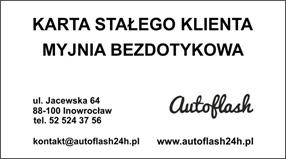 Znalezione obrazy dla zapytania karta na myjnię autoflash inowrocław